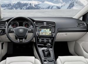 Interior del nuevo Volkswagen Golf Variant.