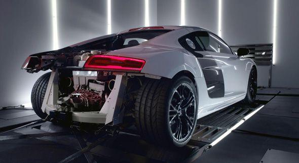 Audi R8 V10 Plus, 550 CV sobre el banco de potencia