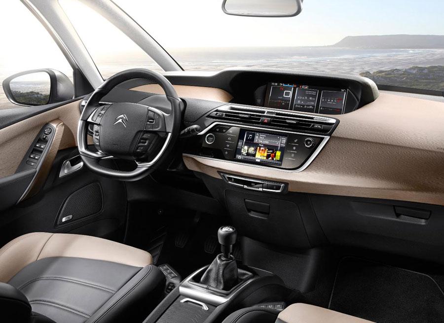Interior del nuevo Citroën C4 Picasso.