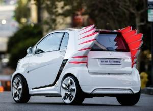 El Smart Forjeremy tiene un diseño, cuanto menos, atrevido. Pero no, no echará a volar.