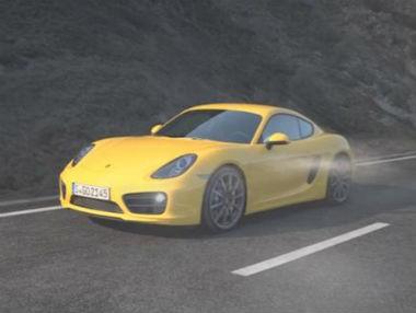 Porsche Cayman, en movimiento