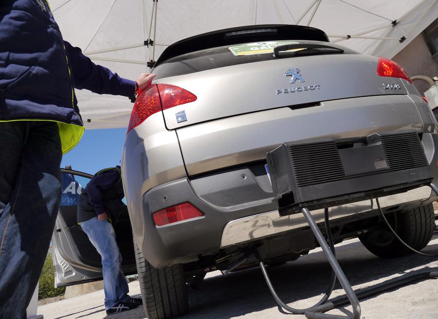 Peugeot 3008 Hybrid4 Rally Ecolóxico de Galicia, prueba de emisiones, Rubén Fidalgo