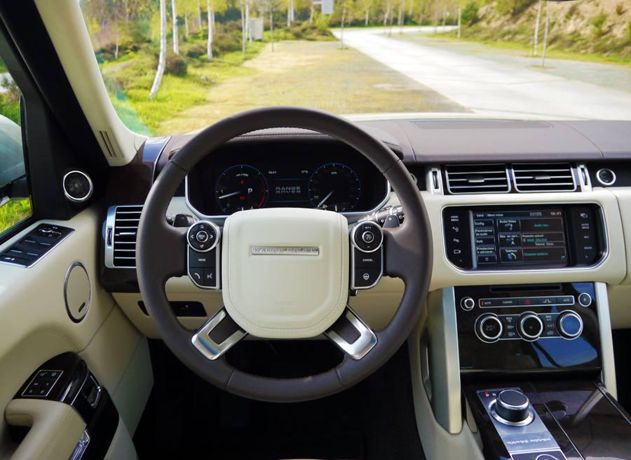 Prueba Range Rover Vogue SDV8, interior, Rubén Fidalgo