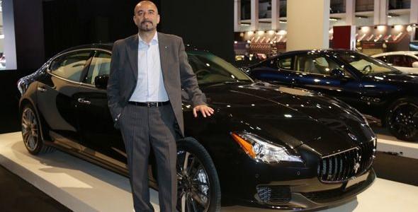 El nuevo Maserati Quattroporte GTS e Ivan Capelli en el Salón de Barcelona