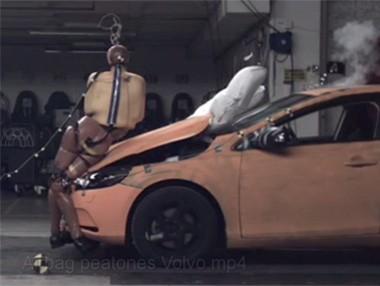 El airbag para peatones de Volvo, en vídeo
