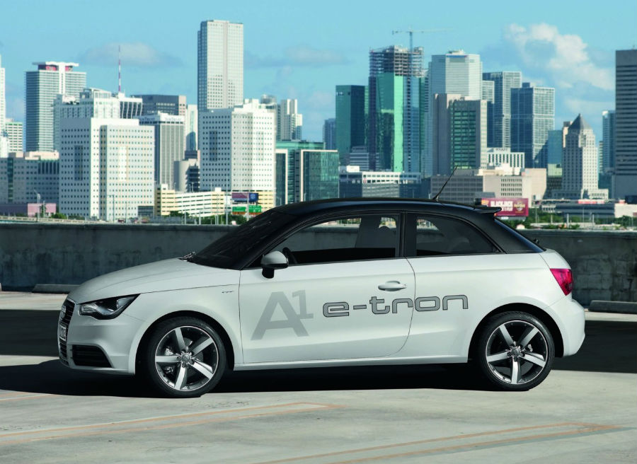Audi A1 e-tron: de 0 a 100 en 9,8 segundos y con una autonomía de 250 kilómetros.