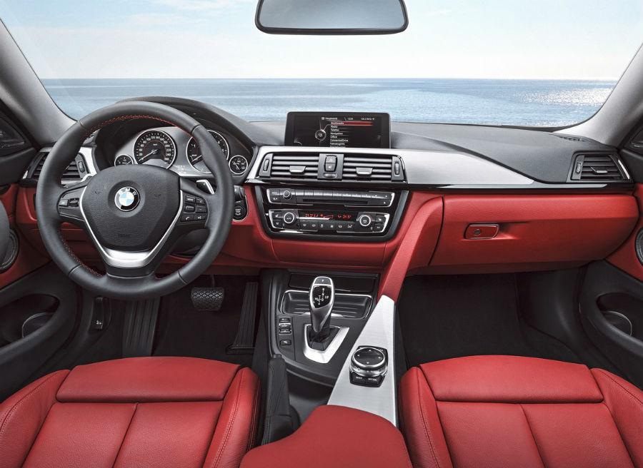 El interior del BMW Serie 4 Coupé aporta novedades, pero no es ningún cambio radical respecto al Serie 3.