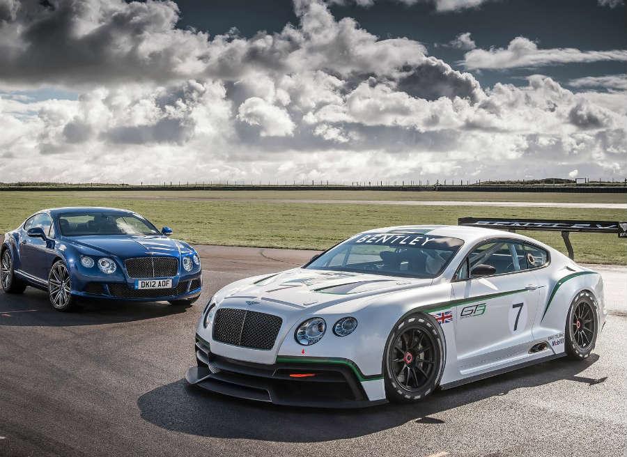 El Bentley Continental GT3 ahorra hasta una tonelada de peso respecto al modelo de serie.
