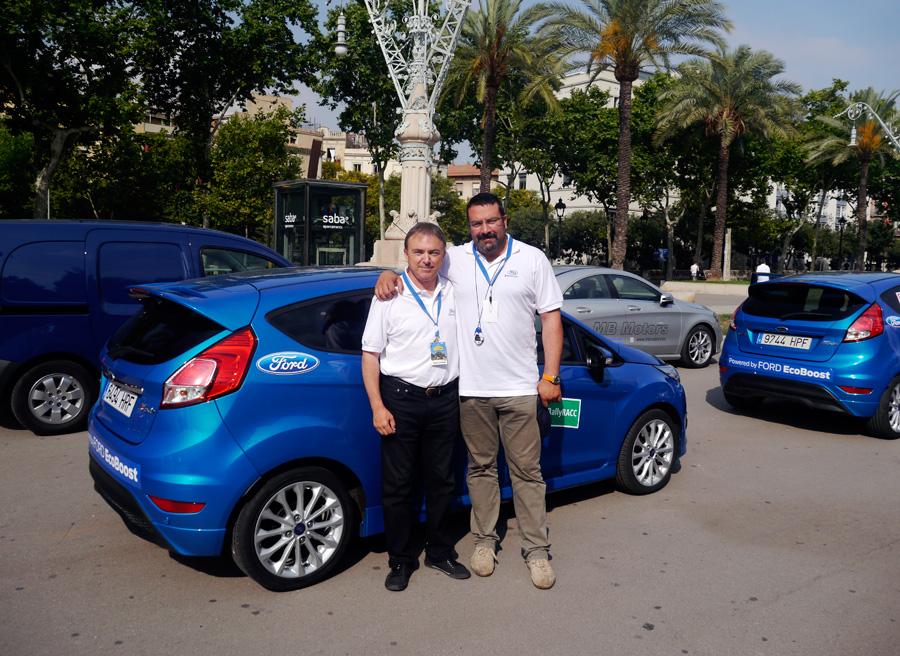 Ford Fiesta Ecoboost 125 Eco Rally Racc 2013, equipo, Rubén Fidalgo