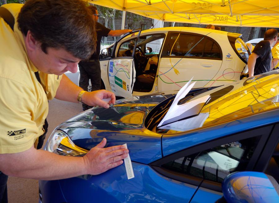 Ford Fiesta Ecoboost 125 Eco Rally Racc 2013, verificaciones, Rubén Fidalgo