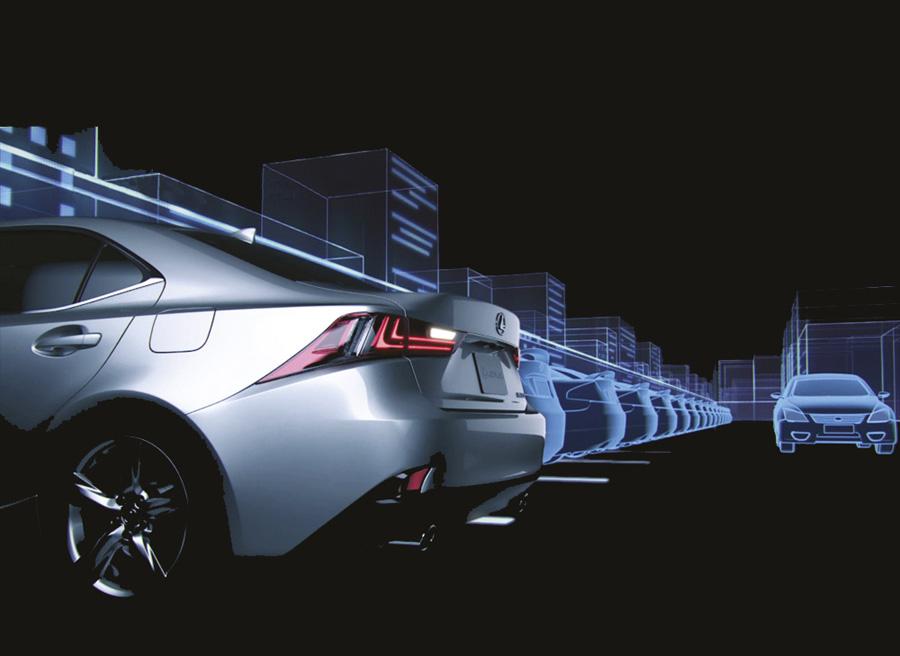 Radar trasero seguridad Lexus IS 300