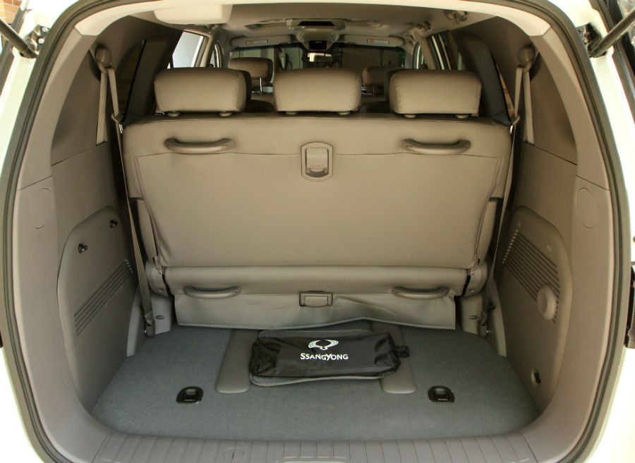 La capacidad del maletero del Rodius es de 875 litros aún con todos los asientos habilitados.