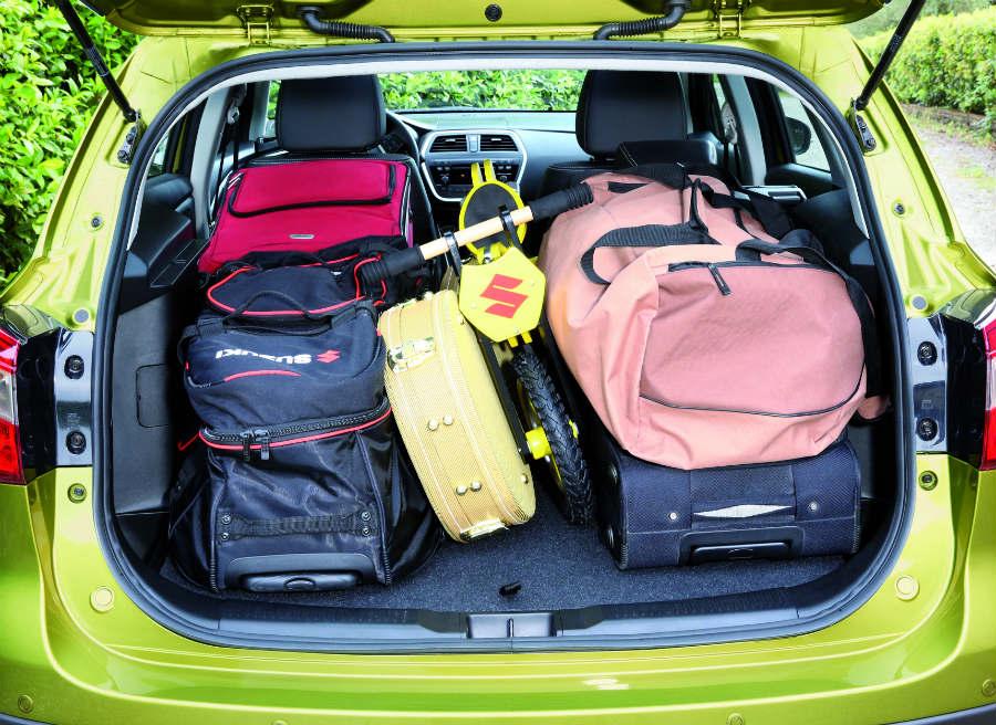 La capacidad del maletero del Suzuki SX4 S-Cross aumenta de forma exponencial respecto al modelo anterior.