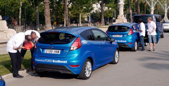 El Eco Rally Racc a bordo de un Ford Fiesta Ecoboost 125 CV
