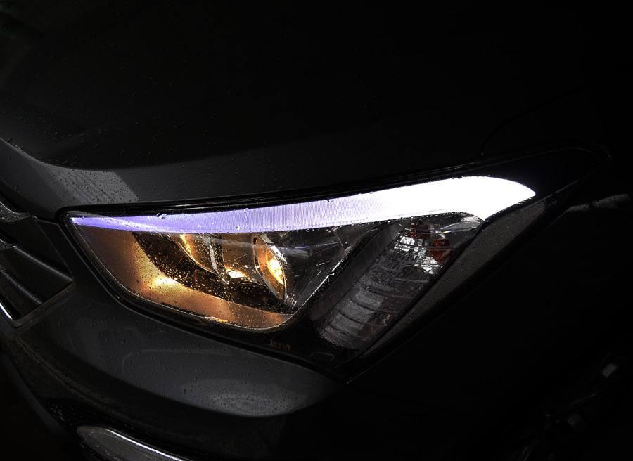 Prueba Hyundai Santa Fe 2WD 150 CV diesel 7 plazas, faro, Rubén Fidalgo