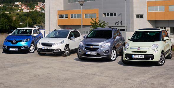 Prueba comparativa SUV: Chevrolet Trax, Fiat 500L, Peugeot 2008 y Renault Captur