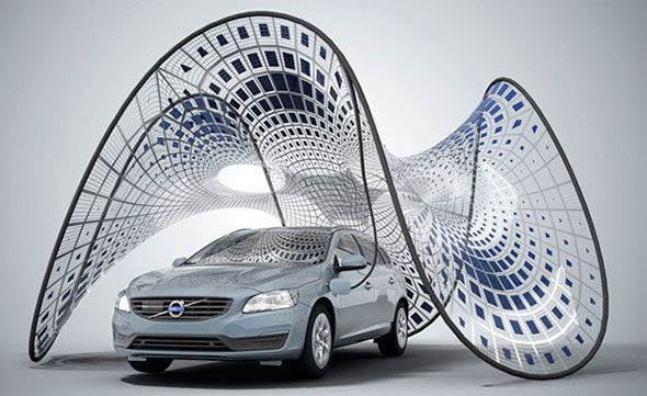 Volvo V60 y Pure Tension: recarga solar portátil