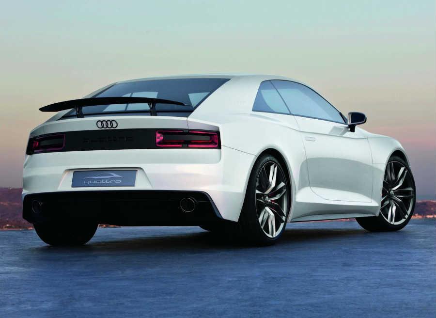El aspecto definitivo del Audi Quattro variará respecto a esta versión presentada en París 2010.