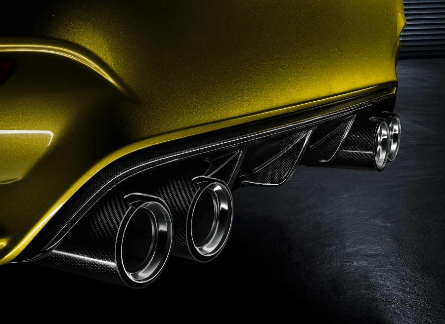 El difusor y las salidas de escape son una de las señas de identidad del nuevo BMW M4.