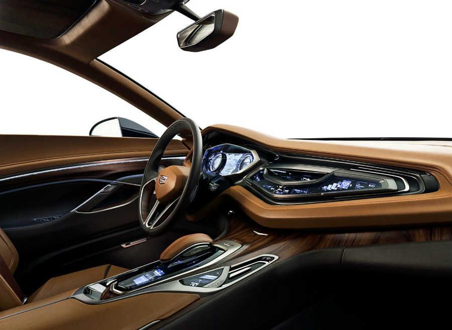 El interior del Cadillac Elmiraj Concept destaca por su elegancia.