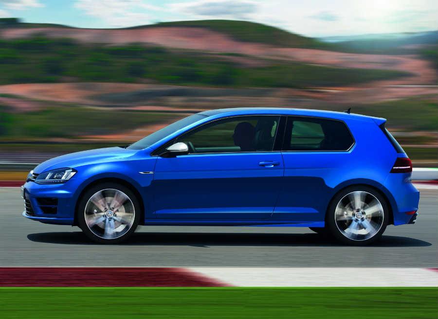 El nuevo Volkswagen Golf R cuenta con unas espectaculares llantas de aleación de 18 pulgadas.