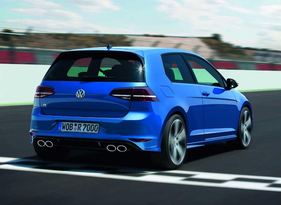 La zaga del Volkswagen Golf R es probablemente su parte más espectacular.