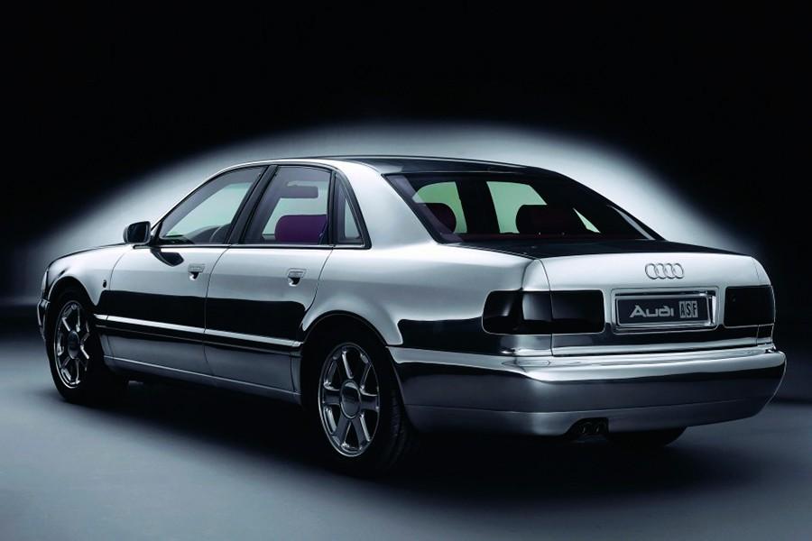 Así presentó Audi su primera carrocería de aluminio en 1993.