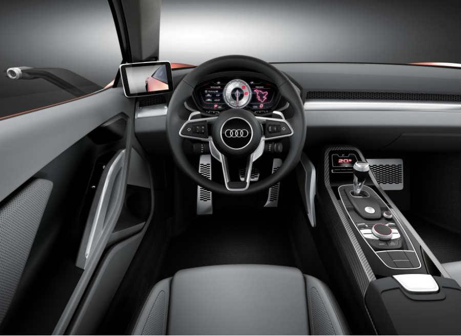 El interior del Audi Nanuk Quattro Concept mezcla lo último en tecnología con un elegante minimalismo.