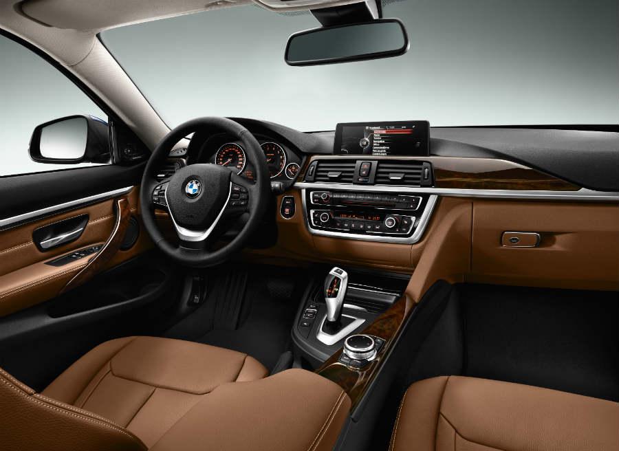 Las opciones de personalización del interior del BMW Serie 4 son amplias.