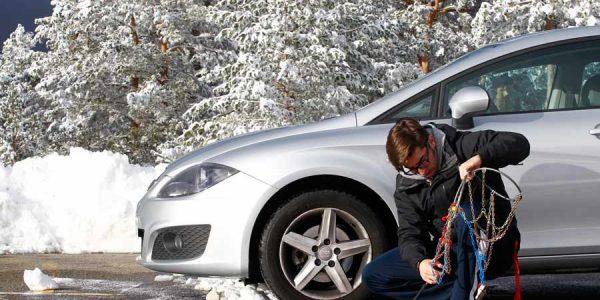 Cómo poner las cadenas de nieve