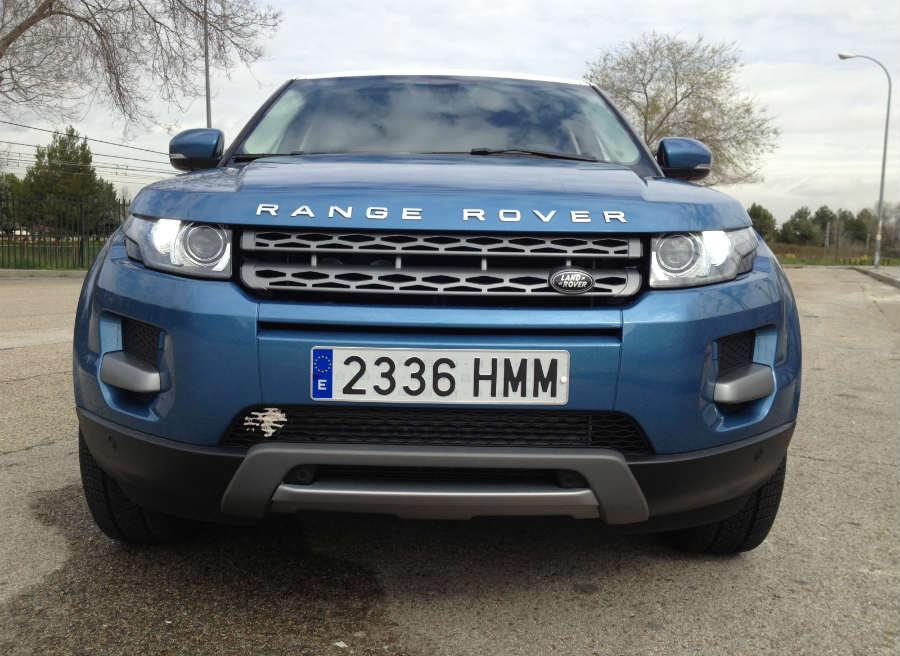 El frontal del Range Rover Evoque impresiona.