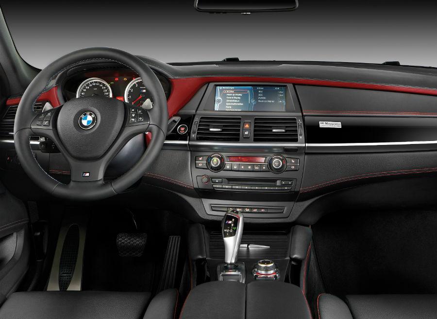 Interior del BMW X6 M Design Edition.