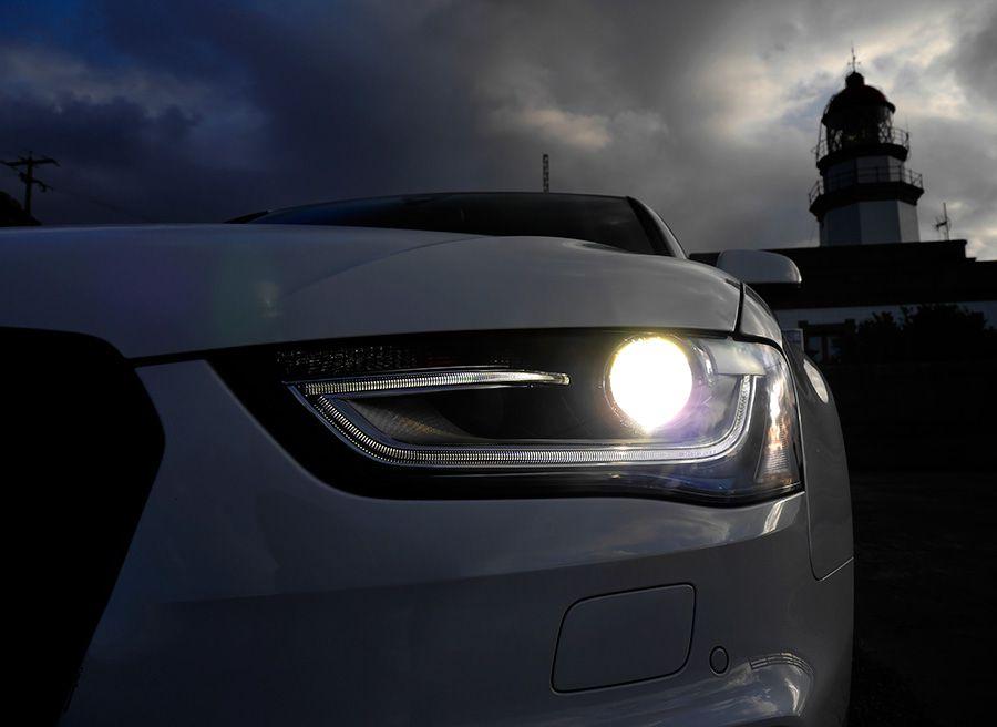 Prueba Audi A4 2.0 TDi Multitronic MY 2012, faros, Rubén Fidalgo