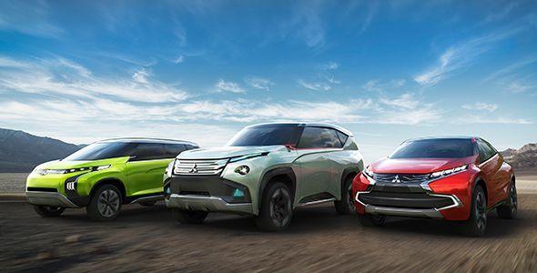 Mitsubishi Concept GC-PHEV, XR-PHEV y AR: 3 prototipos en el Salón de Tokyo 2013