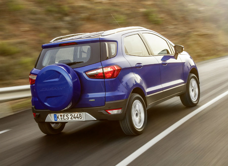 El Ford EcoSport cuenta con una rueda de repuesto con cubierta rígida.