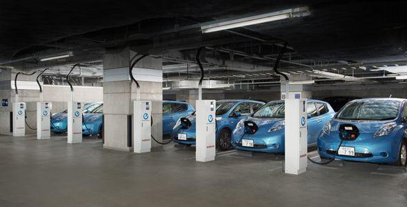 Las baterías del Nissan Leaf suministran energía a nuestro centro de trabajo