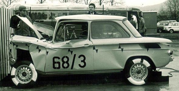 75 años de las pruebas de choque de Audi
