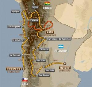 Dakar 2014: recorrido