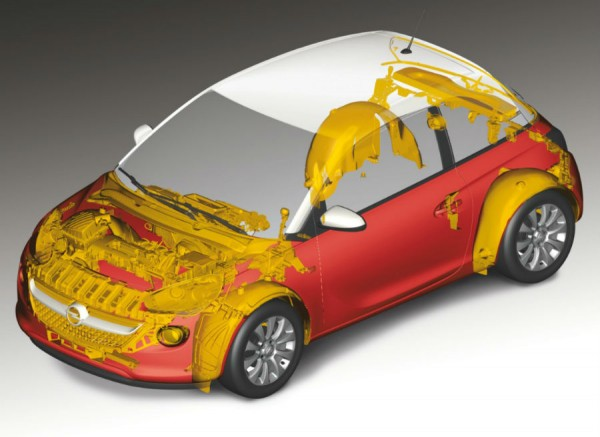 El Opel Adam cuenta con una gran cantidad de materiales reciclados en su interior.