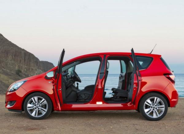 El sistema de apertura de puertas es una de las señas de identidad del Opel Meriva.
