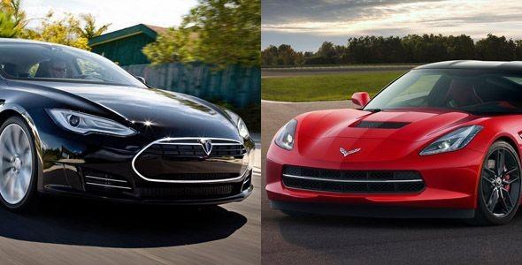Vídeo: Tesla Model S vs Chevrolet Corvette Stingray