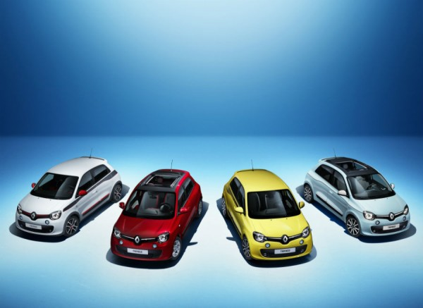 El nuevo Twingo se presenta con cuatro colores de carrocería diferentes.