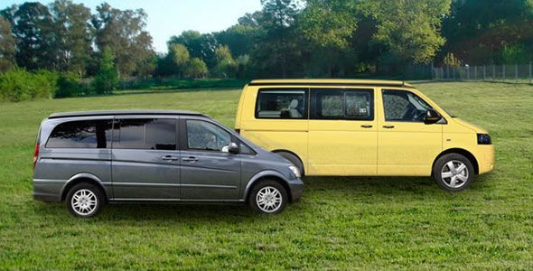 Mercedes Viano Marco Polo vs. VW California Beach: una escapada distinta