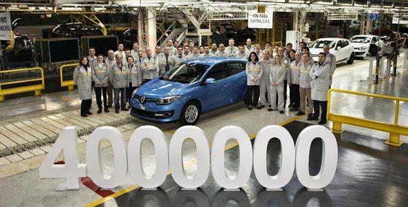 El Renault Mégane 4.000.000 sale de la factoría de Palencia
