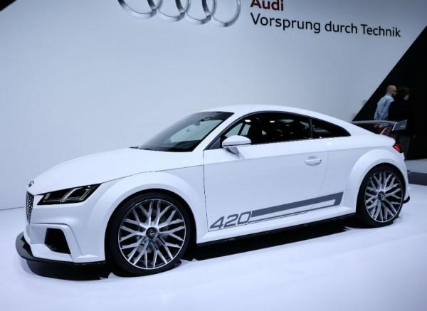 El Audi TT Quattro Sport Concept cuenta con un motor de 420 CV.