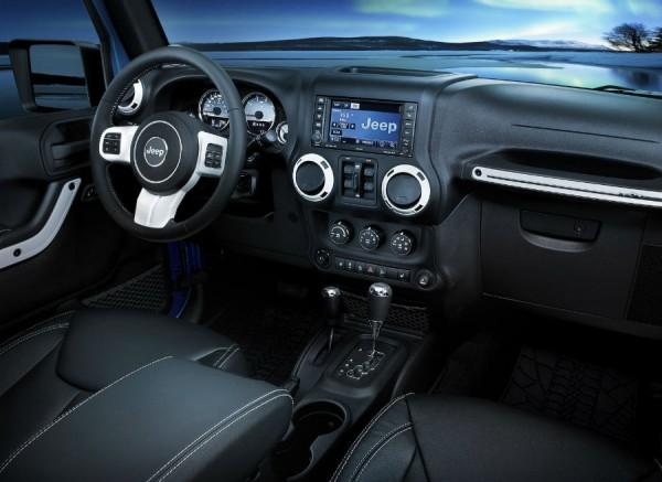 El interior del Jeep Wrangler Polar también varía respecto a la versión convencional.