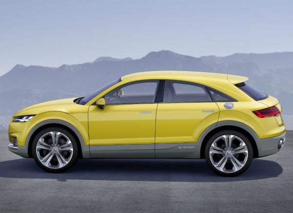El Audi TT Offroad Concept comparte cotas con el Q3, salvo por una altura 8 centímetros menor.