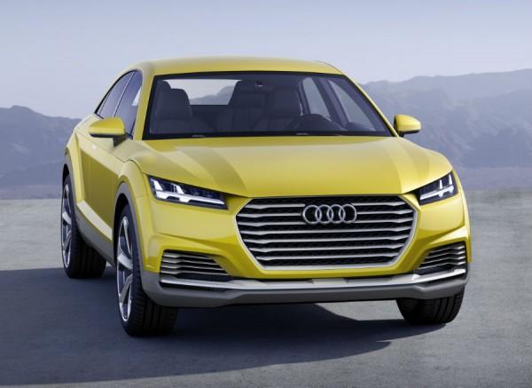 La agresividad es la característica predominante en el frontal del Audi TT Offroad Concept.