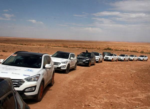 El despliegue de Hyundai en El Desierto de los Niños fue espectacular.