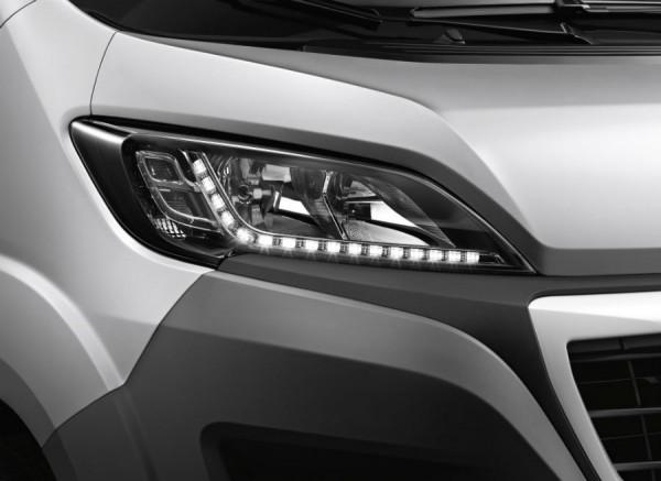La tecnología LED está presente en el Peugeot Boxer.